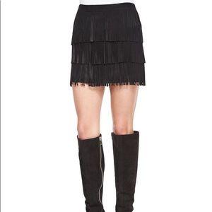 Alice + Olivia Lavana suede fringe skirt